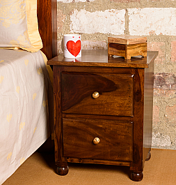 Tiny Pillar :: Sheesham Bedside cabinet