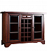 Adrian Bar Glass door cabinet Sheesham wood :: French interior