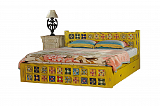 Shimoga Tile Bed Distress Yellow finish One on One
