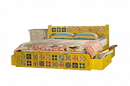 Maharaja Brass fusion King size + 2pcs Bedside Choice of celebrity