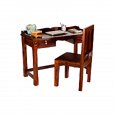 Thoughts Study Table with Chair :: Sheesham Wood