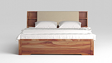 Dahatia Upholesty Solid Wood Hydraulic Storage Bed