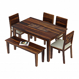 Antilia Solid Wood 6 Seater dining Set