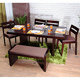 Woody Delight :: Low Backed Chairs Dining Set