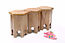 Palace Pillar :: 3 Side Tables :: Indo Fusion