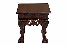 Alberto End table Carved elegance