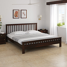 Dema Solid Wood Queen Size Bed