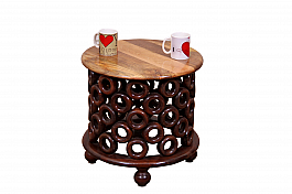 Wooden Disco Balls Centre Table :: High :: Retro