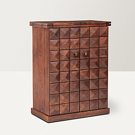 Antilia Diamond Wine cabinet Sheesham wood::Wow!! what a storage