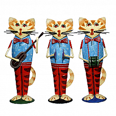Cat Musician Set of Three