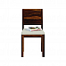Antilia Glass Top Solid Wood 2 Seater Dining Set