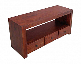 3 Drawer Flat Open TV Media Cabinet
