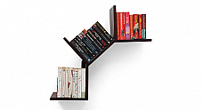 Cascading Bookshelf - Wall Mounted Single Piece :: Contempo