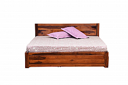 Marina Mod Queen storage Bed Solid Sheesham wood