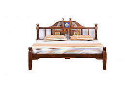 Royal Putica Retro bed King size Rosewood Honey teak polish