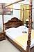 Senorita Antique Style Four poster Canopy Bed King Size