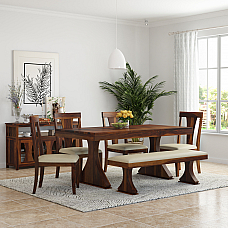 Yeshua Solid wood Six seater Dining set