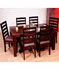 TADASHI Dining set 6 chair & table Solid Sheesham wood Perfect japanese furniture at Home
