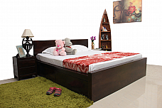 Bobbed Brown :: Comfy King Double Bed with Storage