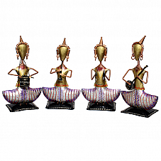 Sitting Lady Musician Set of 4