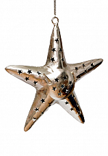 Hanging Star Candle Stand in Nickle