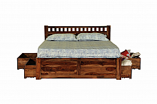 Ethina Modern King  size Wooden bed Simple yet stylish
