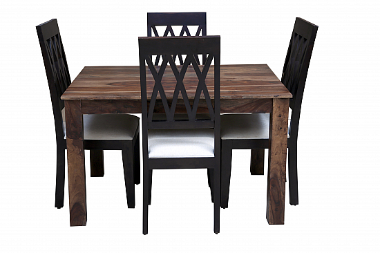 Black Beauties :: Dining Set of 4 chair and table