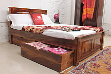 Anastasia Sheesham Bed : Storage Drawer King Size