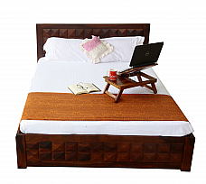 Antilia Diamond bed Queen size Solid sheesham wood Teak finish