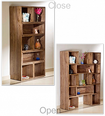 Wooden Extendable Book Case or Display Unit