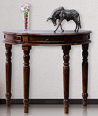 Wooden ethnic Half round Console sheesham wood