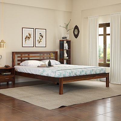Easter Solid Wood Queen Size Bed