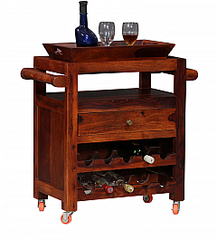 Mini Bar Trolley :: Sheesham