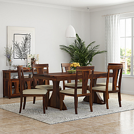 Yeshua  Solid wood Six seater Dining set - NEW ARRIVAL