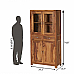 Storage Cabinet with Glass door Seesham wood