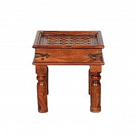 Carved Desert End Table :: Roots Rerun