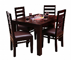 TADASHI Dining set 4 chair & table Solid Sheesham wood Perfect japanese furniture at Home