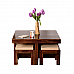 Vivanta 4 Stool and Square center table :: Essential furniture for home * Ready for dispatch