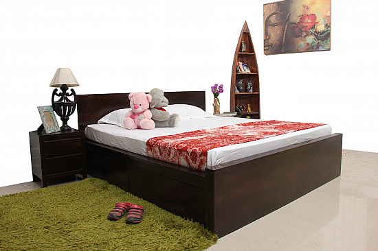 Bobbed Brown :: Comfy Queen Double Bed