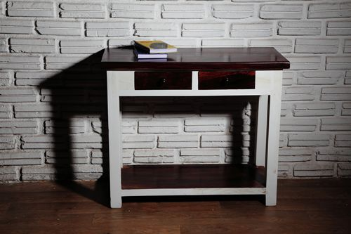 White Finish Study Table