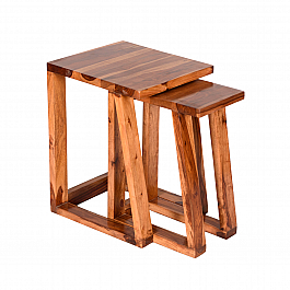 Murdoch Nesting Tables Contemporary Sheesham wood Furntiure