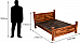 Anglo Indian Seesham wood King size Bed Natural Patina