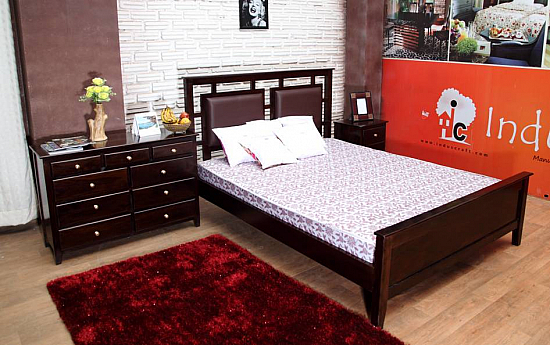 Sebastian King bed, Bedside,9 Drawer cabinet :: set of 3pcs