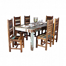 Artists Canvas :: Reclaimed Wood Dining Set