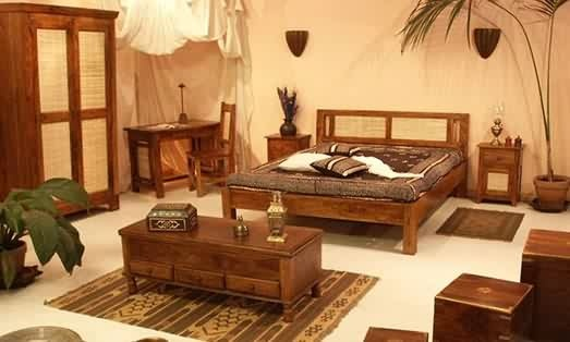 Duel Shade Wooden Bedroom Set