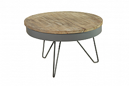 Industrial Iron Center Table