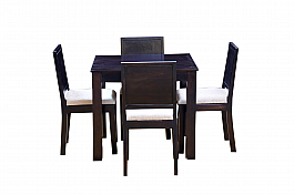 Arabia Upholstered  solid wood 4 seater dining set
