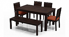 Ross Espresso Dining table set for six :: Solid wood furniture