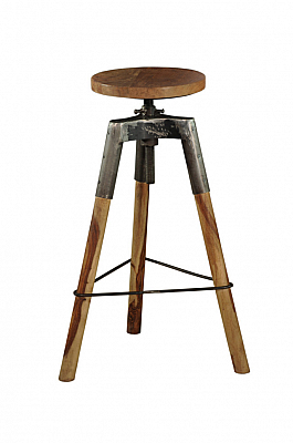 Industrial Iron Stool 3 Leg