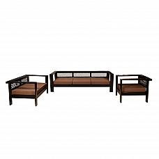 Libra Sofa set 3+2+1 seater + Coffee table in sheesham wood